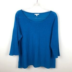 Eileen Fisher Blue Lightweight Sweater Large L